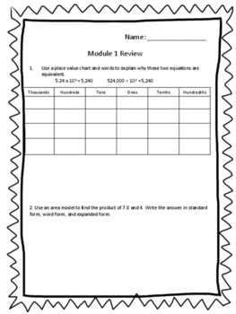 Eureka Grade 5 Module 1 Review