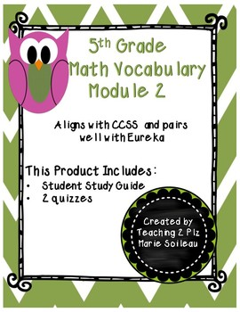 Math Vocabulary Quiz Grade 5 Module 2