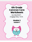 Eureka 6th Grade Engage New York Module 2 Lesson 1 Fractions Worksheet