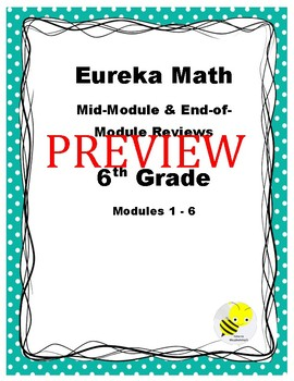 Eureka Grade 6 Study Guides for Modules 1 -6