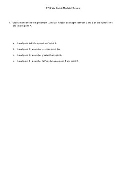 Eureka Grade 6 End-of-Module 3 Study Guide