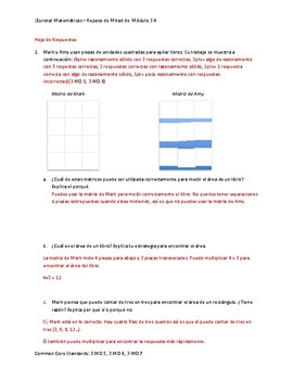 Eureka! Matemáticas: Repaso de Mitad de Módulo, 3er Grado, Módulo 4