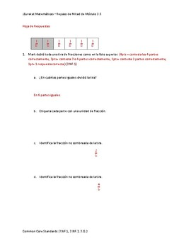 Eureka! Matemáticas: Repaso de Mitad de Módulo, 3er Grado, Módulo 5