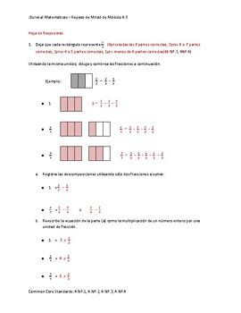 Eureka! Matemáticas: Repaso de Mitad de Módulo, 4to Grado, Módulo 5