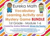 Eureka Math 1st Grade BUNDLE Vocabulary PPT Activity NO PREP Distance Learning