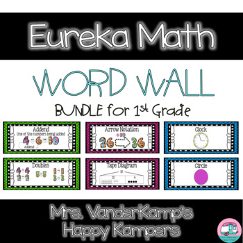 Eureka Math EngageNY 1st Grade Word Wall BUNDLE