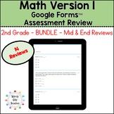 Eureka Math 2nd Grade Bundle Google Forms Assessment Revie