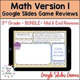 Eureka Math 3rd Grade Module 1-7 Mid/End-of-Module Review Google Slides Bundle