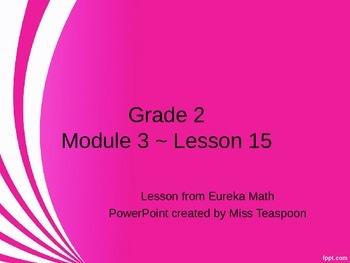Eureka Math - 2nd Grade Module 3, Lesson 15 PowerPoint