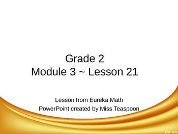 Eureka Math - 2nd Grade Module 3, Lesson 21 PowerPoint