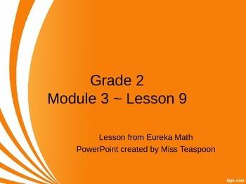 Eureka Math - 2nd Grade Module 3, Lesson 9 PowerPoint
