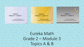 Eureka Math - 2nd Grade Module 3, Topics A & B PowerPoints