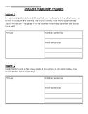 Eureka Math 2nd Grade Module 4 Application Problem Packet