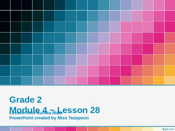 Eureka Math - 2nd Grade Module 4, Lesson 28 PowerPoint