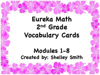 Eureka Math - 2nd Grade Modules 1-8 Vocabulary Cards