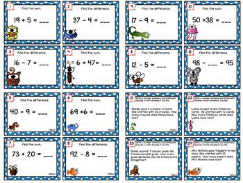 Eureka Math 2nd Grade Review Bundle Scoot Task Cards With Boom™ Digital Option