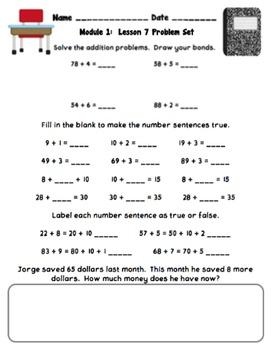 Eureka Math 2nd Grade Student Sheets Module 1