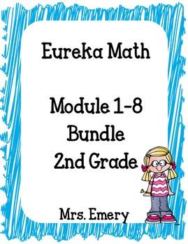 Eureka Math 2nd Grade Student Sheets Bundle - Modules 1-8