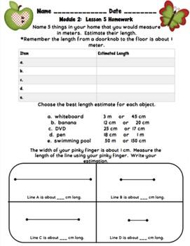 Eureka Math 2nd Grade Student Sheets - Module 2