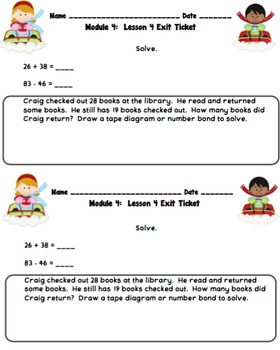 Eureka Math 2nd Grade Student Sheets - Module 4