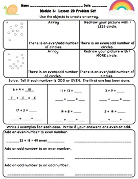 Eureka Math 2nd Grade Student Sheets - Module 6