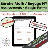 Eureka Math 3rd Grade Digital Assessment BUNDLE Google For