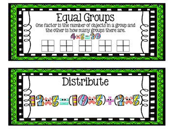 Eureka Math EngageNY 3rd Grade Word Wall BUNDLE