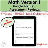 Eureka Math 4th Grade Bundle Google Forms Assessment Revie