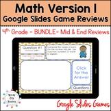 Eureka Math 4th Grade Module 1-7 Mid/End-of-Module Review Google Slides Bundle