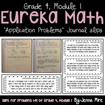 Eureka Math 4th Grade Module 1 Application Problems