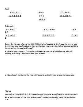 Eureka Math 4th Grade Module 1 Review and Test