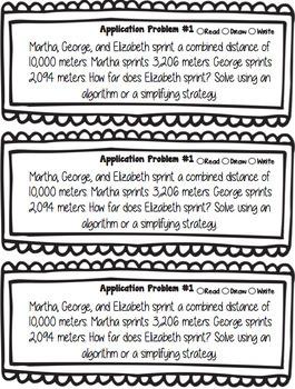 Eureka Math 4th Grade Module 2 Application Problems
