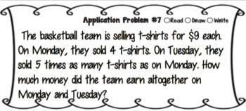 Eureka Math 4th Grade Module 3 Application Problems