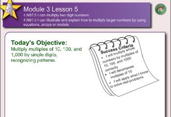 Eureka Math 4th Grade Module 3 Topic B lessons 4-6 Smartboard File