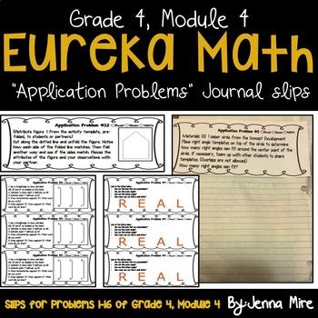 Eureka Math 4th Grade Module 4 Application Problems