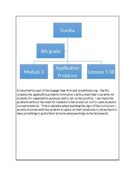 Eureka Math - 4th grade - Module 3/Application Problems, lessons 1-38