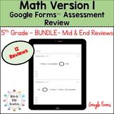 Eureka Math 5th Grade Bundle Google Forms Assessment Revie