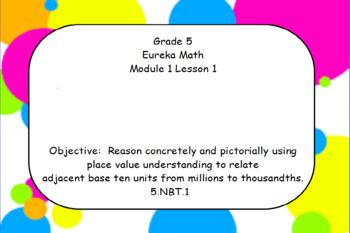 Eureka Math 5th Grade Module 1 Flipcharts