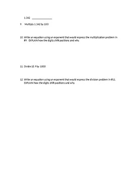 Eureka Math 5th Grade Module 1 Mid Module Study Guide