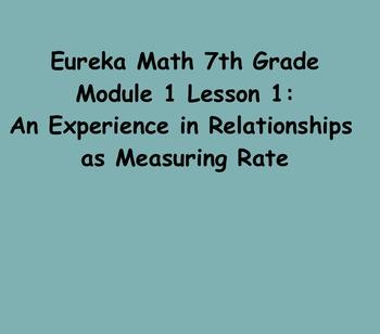 Eureka Math 7th Grade Module 1 Lesson 1