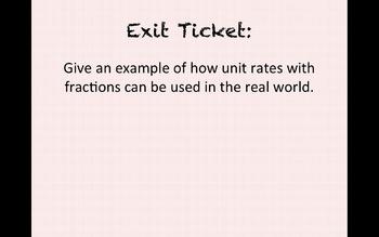 Eureka Math 7th grade Module 1 Lesson 12 Ratios of Fractions & Their Unit Rates