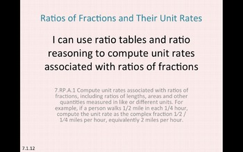 Eureka Math 7th grade Module 1 Lesson 12 Ratios of Fractio