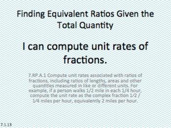 Eureka Math 7th grade Module 1 Lesson 13 Ratios of Fractio