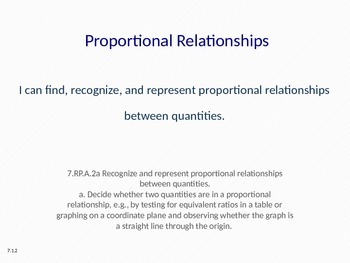 Eureka Math 7th grade Module 1 Lesson 2 Proportional Relationships