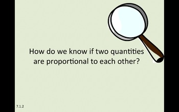 Eureka Math 7th grade Module 1 Lesson 2 Proportional Relationships