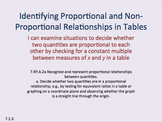Eureka Math 7th grade Module 1 Lesson 3 Proportional Relationships in Tables