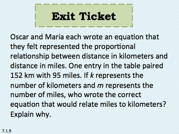 Eureka Math 7th grade Module 1 Lessons 9 Power Point