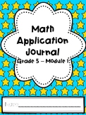 Eureka Math Application Journal - Module 1 - 5th Grade