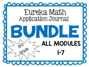 Eureka Math Application Journal Third Grade ALL MODULES (1-7) BUNDLE