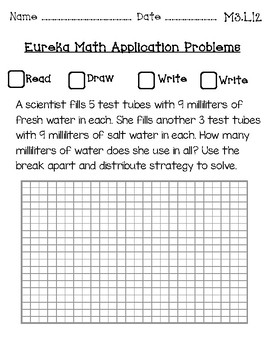 Eureka Math Application Journal Third Grade Module 3